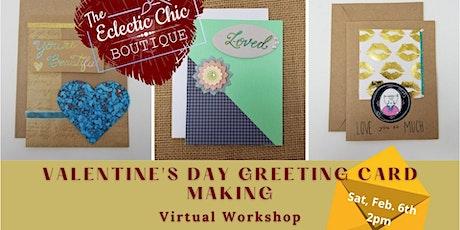 Valentines Day Card Making Virtual Workshop tickets