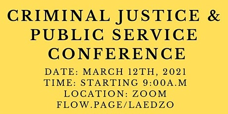 Criminal Justice & Public Service Conference 2021: Agency  Registration tickets