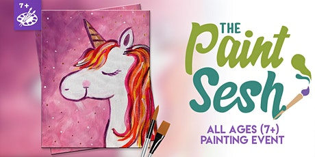 "Online Painting Class – ""Mystical Unicorn"" (Virtual Painting at Home) tickets"
