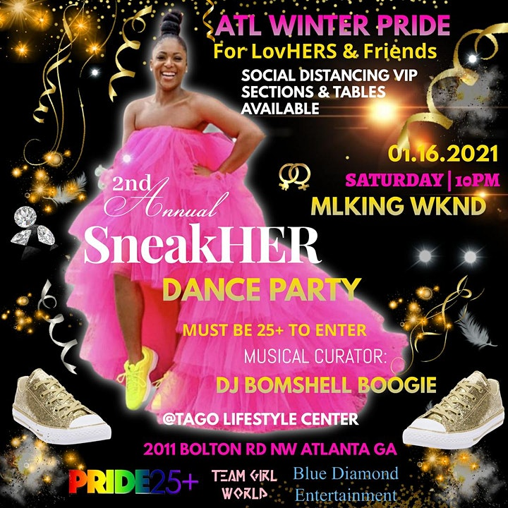 SneakHER Dance Party / YOU CAN PAY ENTRY AT THE DOOR / TXT 6786982354 INFO image