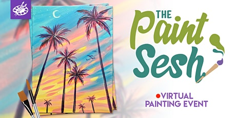 "Online Painting Class – ""California Dreaming"" (Virtual Painting at Home) tickets"