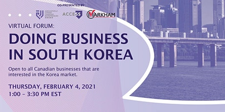Virtual Forum:  Doing Business in South Korea tickets