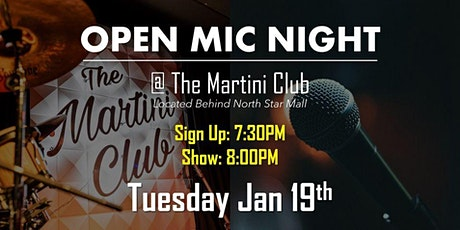 Anti-Social Open Mic at Martini Club tickets
