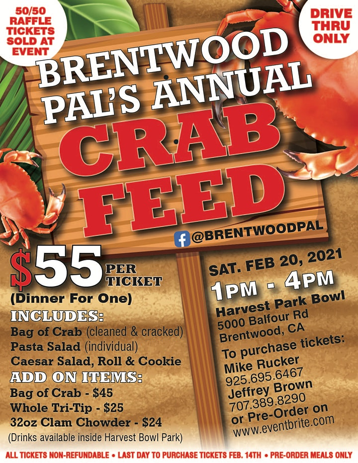 Brentwood PAL's Annual Crab Feed (Drive Thru) image