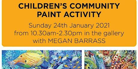 Children's Community Canvas Creation - with Megan Barrass tickets