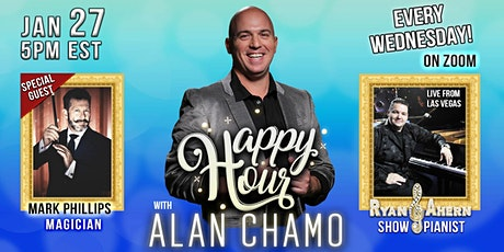 Happy Hour with Alan Chamo  | featuring Magician Mark Phillips 27/01/2020 tickets