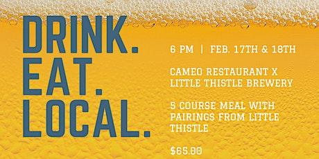 Cameo Restaurant x Little Thistle Brewery Dinner tickets