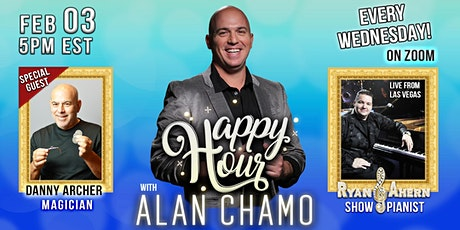 Happy Hour with Alan Chamo  | featuring Magician Danny Archer 02/03/2020 tickets