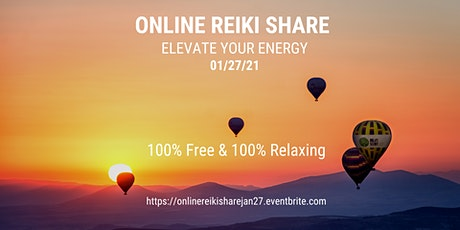 ONLINE REIKI SHARE  100% Free 100% Relaxing tickets