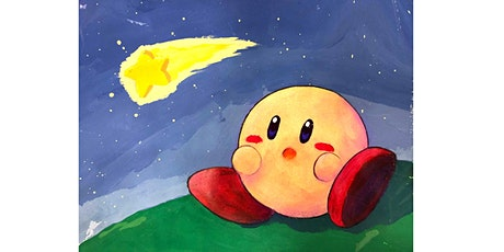 60min Shooting Star Kirby Art Lesson  @3PM (Ages 5+) billets