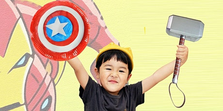 60min Superhero Craft Lesson - Avenger's Hammer & Shield @3PM (Ages 5+) tickets