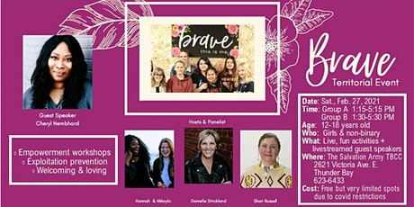 BRAVE! Empowerment & Exploitation Prevention for young ladies & non-binary tickets