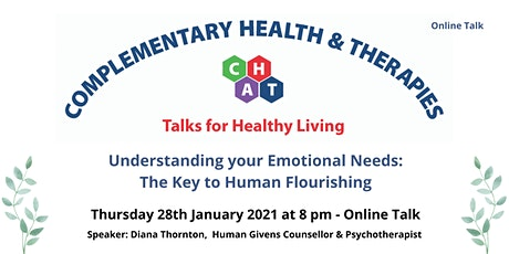 Understanding Your Emotional Needs - The Key to Human Flourishing tickets