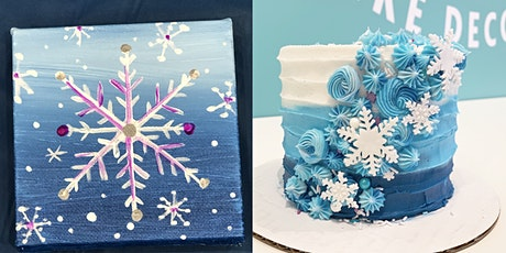 SPECIAL Workshop w/ Pinot's Palette!  Snowflake Painting & Cake Decorating! tickets