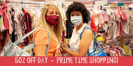 50% OFF DAY Prime Time Shopping Pass $10 - JBF Arlington - Spring 2021 tickets
