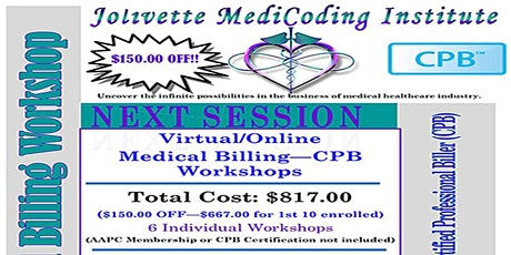 2021 JMCI Medical Billing-CPB (6) Consecutive Workshops tickets