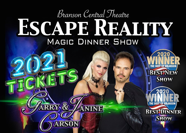 'Escape Reality' Branson Magic Dinner Show with Garry & Janine Carson image