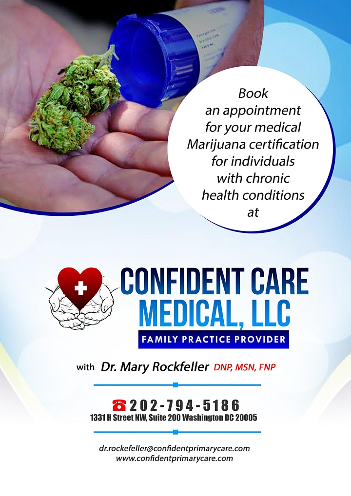 Medical Marijuana  Certification Call  CALL 202.794.5186 for Appointment image