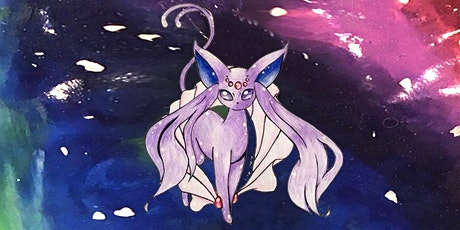 60min Draw Mega Evolution Espeon Pokemon Lesson @12PM  (Ages 6+) tickets