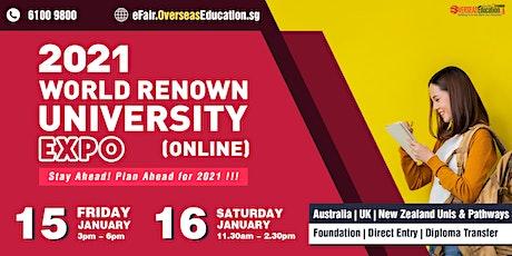 2021 World Renown University Expo (ONLINE) tickets