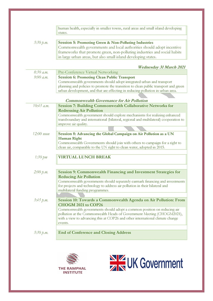 2nd International Conference - Combating Air Pollution in the Commonwealth image