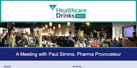 A Meeting with Paul Simms, Pharma Provocateur tickets