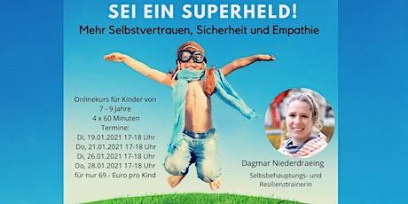 SEI EIN SUPERHELD! Online-Selbstbehauptungskurs für Mädchen und Jungs Tickets