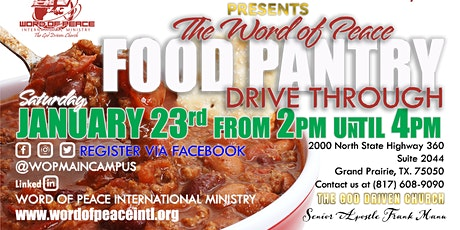 Monthly Drive-thru Food Pantry tickets