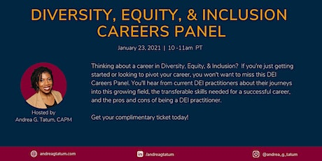 Diversity, Equity, and Inclusion Careers Panel - Jan. 23 tickets
