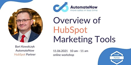 An Overview of HubSpot Marketing Tools 11.06.2021 tickets