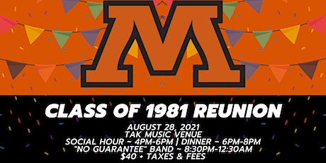 Moorhead High School Class of 1981 40 Year Reunion tickets
