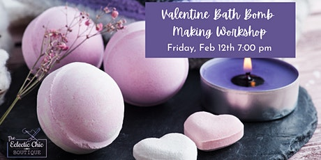 Valentine Bath Bomb Making Virtual Workshop tickets