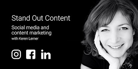 """Stand Out Content"" 2021 - Social Media and Content Marketing tickets"