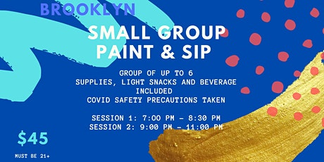 SMALL GROUP PAINT & SIP tickets