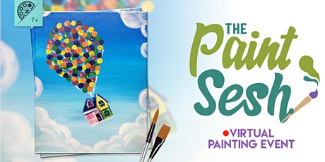 "Online Painting Class – ""Adventure is Out There"" (Virtual Painting at Home) tickets"