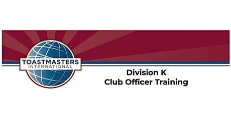 D91 Division K - Club Officer Training - Winter 2021 tickets