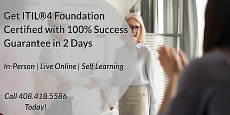 ITIL®4 Foundation 2 Days Certification Training in Irvine tickets