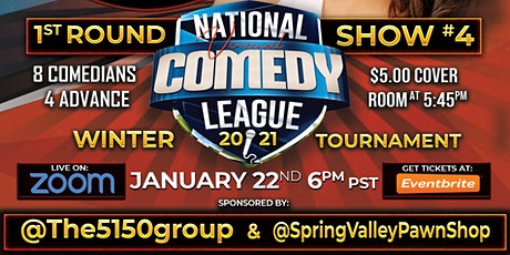 National Virtual Comedy League: Round 1 - Show #4 - Fri 1/22 at 6 pm PST tickets