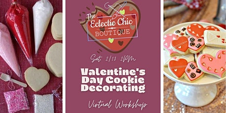 Valentine Sugar Cookie Decorating Virtual Workshop tickets