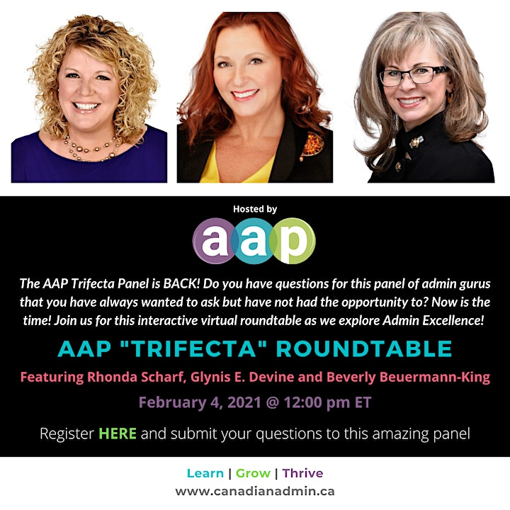 "AAP ""TRIFECTA"" ROUNDTABLE - BACK BY POPULAR DEMAND image"