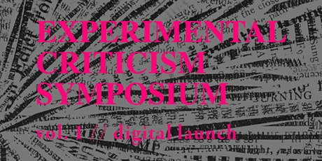 MANIFOLD Experimental Criticism Symposium tickets