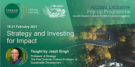 Lifelong Learning - Strategy and Investing for Impact tickets