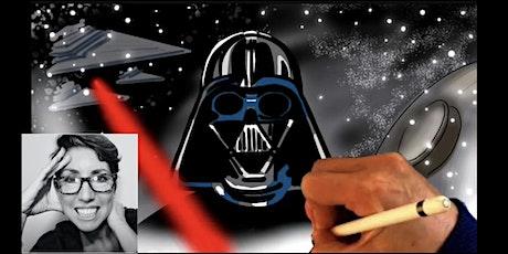 STAR WARS art tutorial tickets