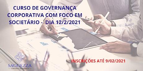 Curso de Governança Corporativa com Foco em Societário ingressos