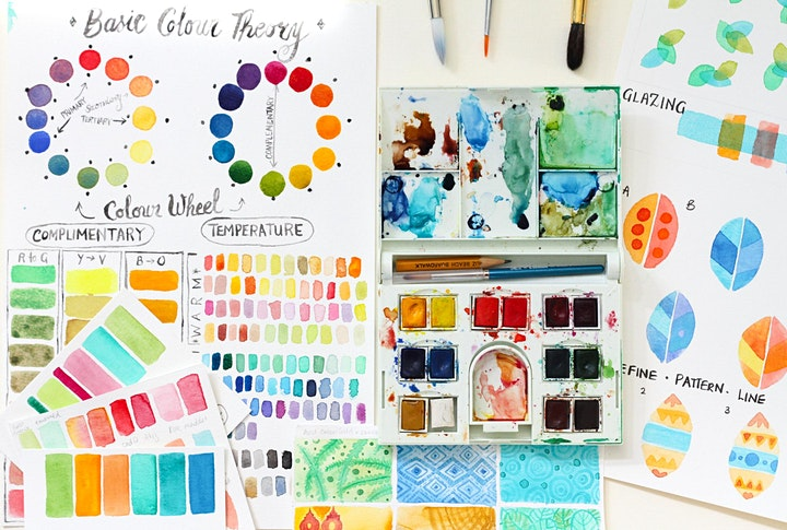 Go Wild With Colour! - Adult Colour Mixing Watercolour Workshop - beginners image