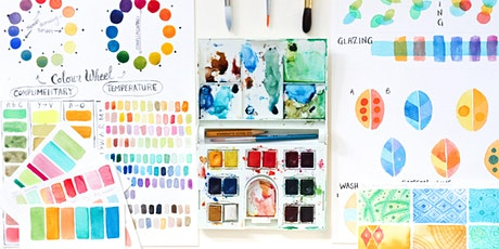 Go Wild With Colour! - Adult Colour Mixing Watercolour Workshop - beginners tickets