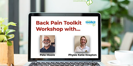 Pain Toolkit workshop For people with long-term  BACK PAIN tickets