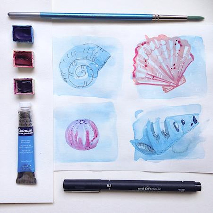 Beach Combers' Adult Watercolour Workshop image