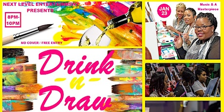 DRINK & DRAW: The Grownfolks Virtual Painting Party w Music and Martini's tickets