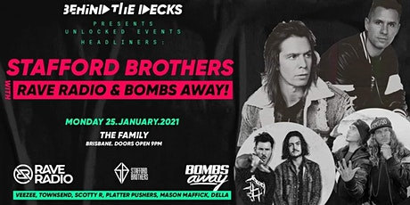 Stafford Brothers, Rave Radio and Bombs Away. tickets